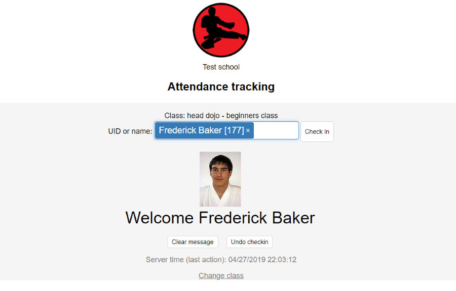 Track attendance manually, with kiosk (self checkin) or by scanning QR codes