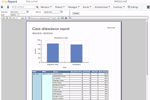 Run various reports based on your class attendance data.